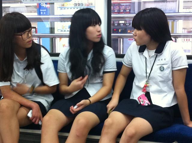 Korean school girls