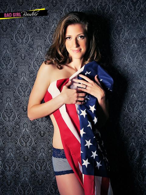 Patriotic American Flag Boudoir