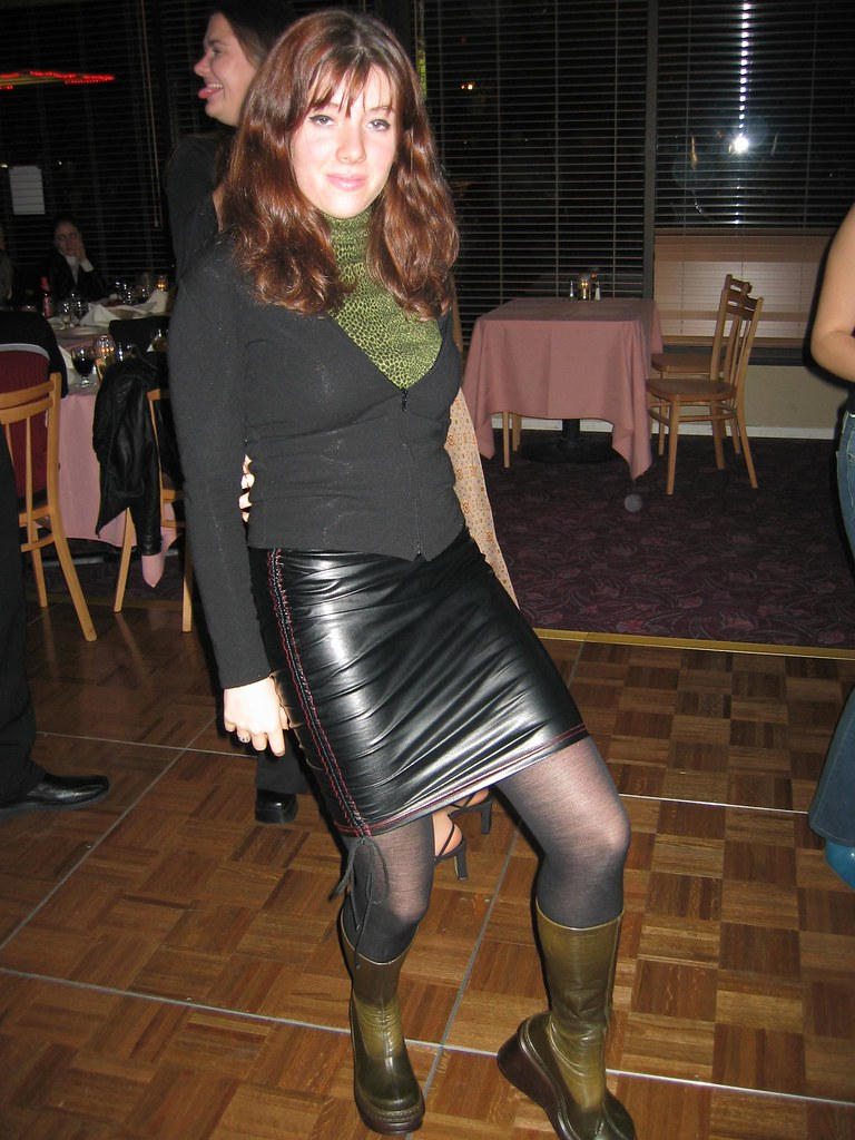 girl in skin tight leather skirt - a photo on Flickriver