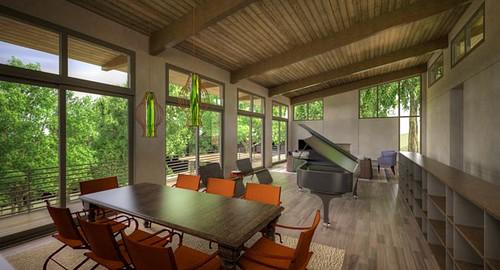 Franklin Hillside House- Interior 1- Design- Building Ideas, Marcelle Guilbeau Interior Designer, David Baird Architect