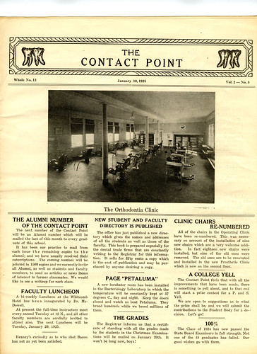Contact Point Jan 1925