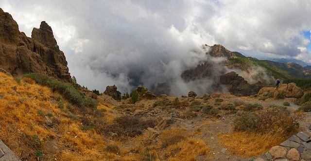 La Caldera de Tirajana (Hoya de Tunte) y el Mar de Nubes en Gran Canaria Islas Canarias