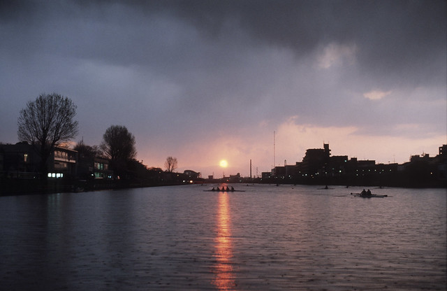 Rainy Sunset of Boat Course