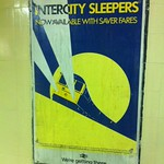 Old poster found at Richmond Station - sleepers - taken by English Heritage