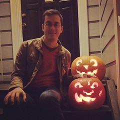Pumpkins we made for Halloween.