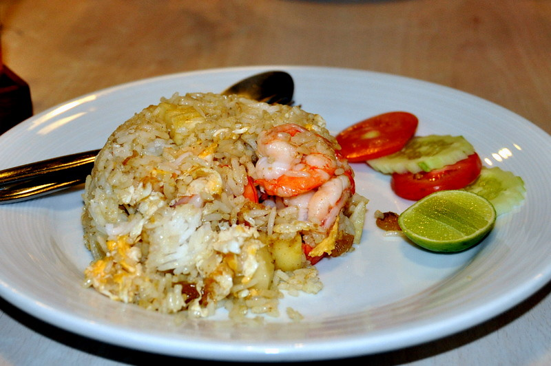 Shrimp Fried Rice with Coconut and Pineapple