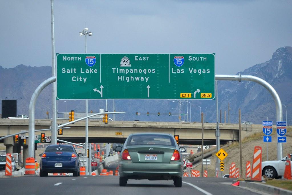 turn lanes sign