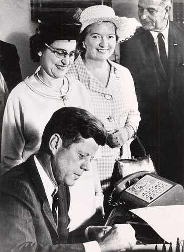 College of the Holy Names Alumna with President John F. Kennedy