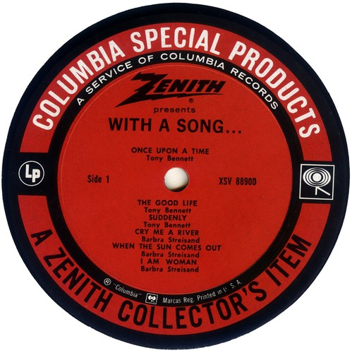 Barbra Streisand Barbra Streisand: With a song (Sampler) Label