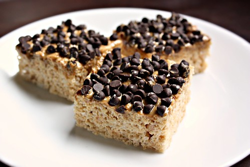 Sunbutter Chocolate Chip Rice Krispy Treats