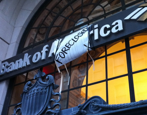 Occupy Atlanta Bank of America Foreclosed