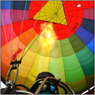 Fire the hot-air balloon