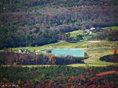 autumn houses mountains fall georgia fallcolor cows ponds fortmountain overlooks murraycounty nov112011