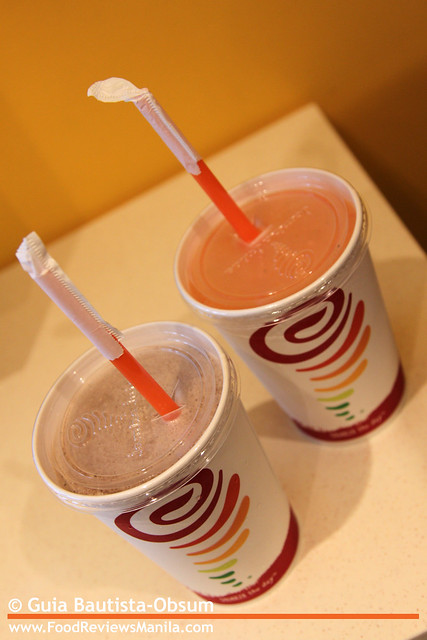 Jamba Juice Carribean Passion and Chocolate Moo'd
