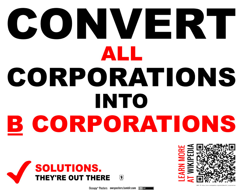 Convert All Corporations to B Corporations