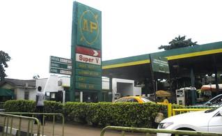Lagos, gas station
