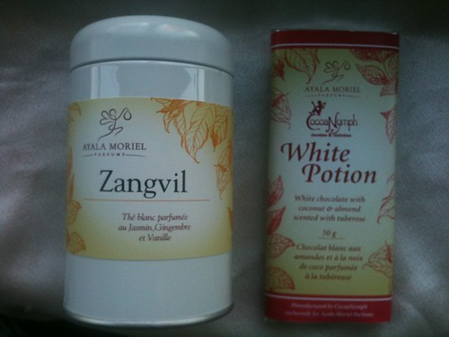 Zangvil tea + White Potion chocolate bar