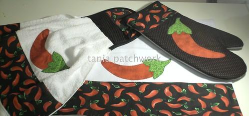 Jogo Cozinha Pimentas by tania patchwork