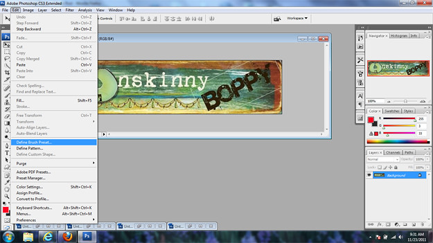making a logo watermark for blog