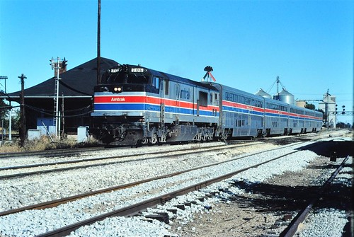 Amtrak GE at Gilman IL 1980