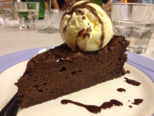 Dark Choc cake with ice-cream