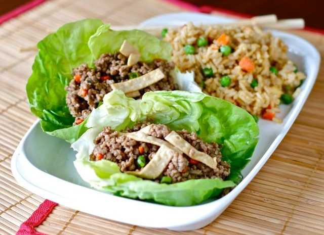aisan Lettice wraps w/ fried rice