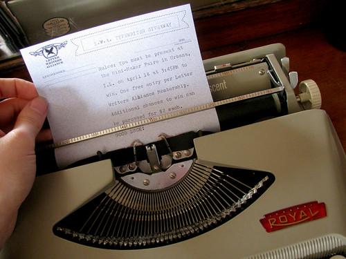 giveaway typewriter 2