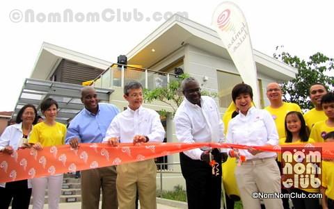 Jamba Juice Senior Vice President Mr. Thibault De Chatellus joins Ribbon Cutting (in white polo)