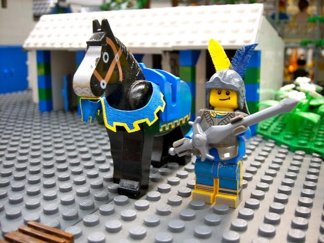 Ridder Graniet en zijn paard Kos met de Snor