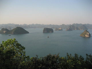 Halong Bay, view from Titop Island