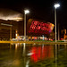 Supporting Wales in The Rugby World Cup - The Wales Millenium Centre by pollen..
