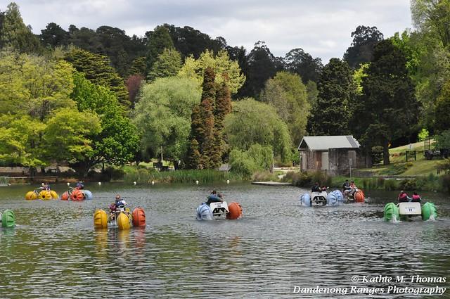 Paddle boats on Emerald Lake