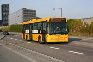 Bus in Ørestad, Copenhagen (København), Denmark (Danmark)