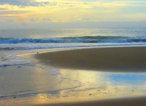 ocean morning sea mer beach water marina sunrise reflections dawn golden md sand marine waves ngc sandbar playa seashore oceancitymd blinkagain dblringexcellence bestofblinkwinners