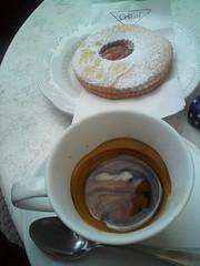 CAFFE LUNGO E OCCHIO DI BUE AL BAR DA ROSA, GIGLIO PORTO