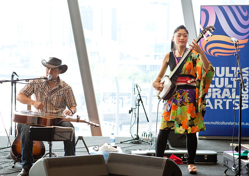 George Kamikawa and Noriko Tadano performed for delegates during the lunch break on day 2