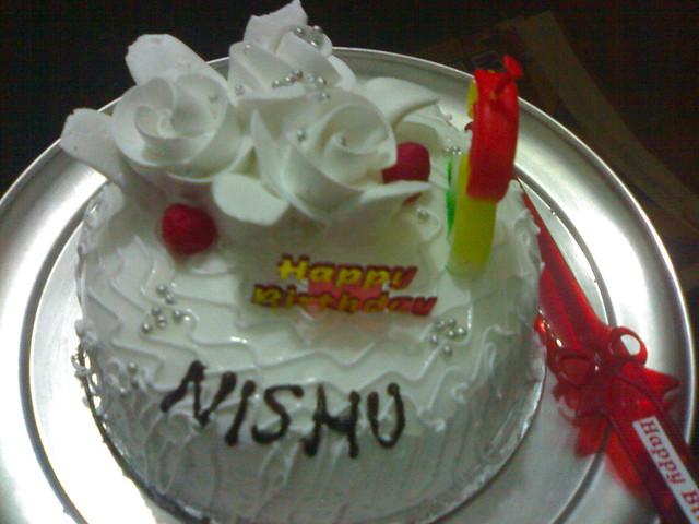 Happy Birthday Nisha - Cake image