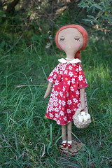 doll with roses
