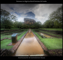 HDR Vertorama: Entrance to Sigiriya Rock Fortress, Sri Lanka
