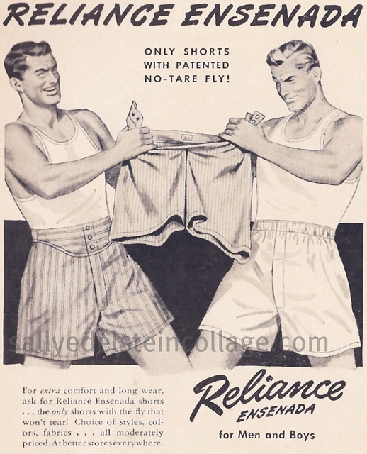 Unintentionally Gay Mens Underwear Ad 1946