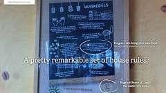 Bagels & Beans remarkable house rules