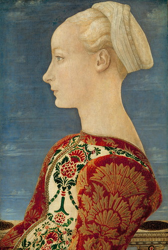 Antonio Pollaiuolo  - Profile Portrait of a Young Lady by greta_g