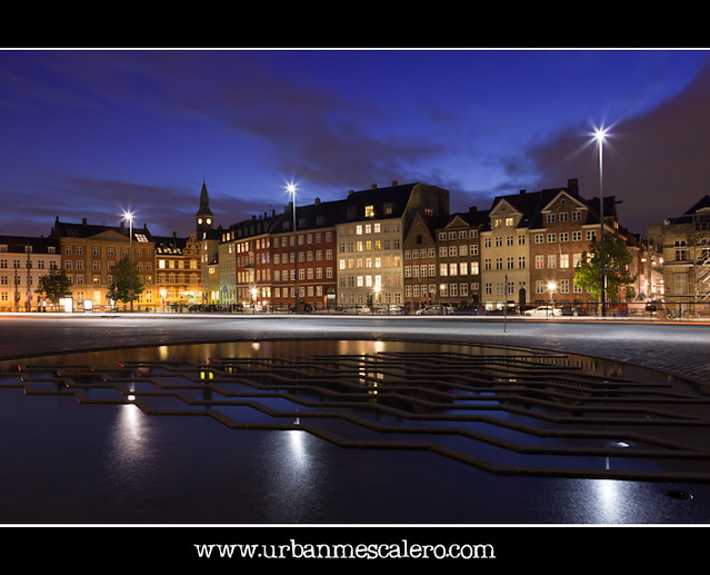 Copenhagen [Denmark] - Street Lights on Frederiksholms Channel