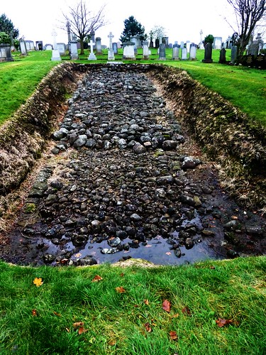 Foundations of Antonine Wall at Bearsden Cemetery