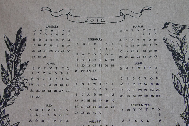 2012 calendar by bookhou