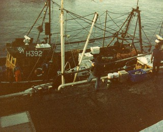 Fishing boat at Bridlington, Easter 1984