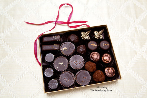 21-piece assortment of Alma Chocolates