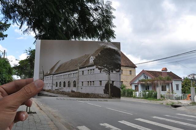 Nhà Địa dư Đà Lạt năm 1948, nay là Xí nghiệp Bản đồ Đà Lạt