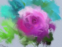 Rose Vignette, iPad painting