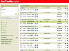 Ladbrokes Soccer Live Score